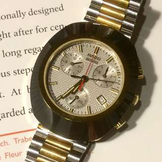 Authentic Rado Diastar chronograph two tone quartz watch Sapphire
