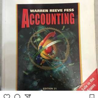 Accounting by Warren Reeve Fess,21st edition