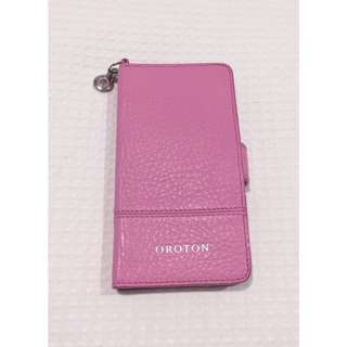 IPhone 6/6s Pink leather Oroton Cover & Cardholder