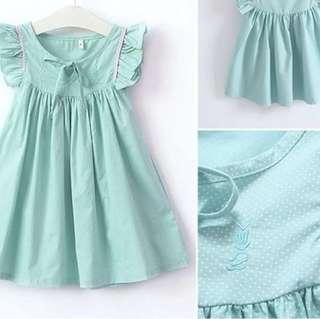 Cute flared Green Dress