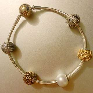 Pandora two-tone Essence Bracelet or Store Credit