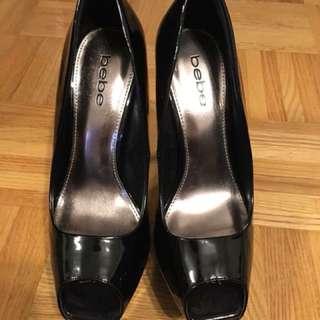 Bebe peep toe heels