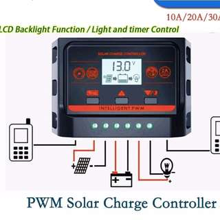 10A Solar Charge Controller w/backlight