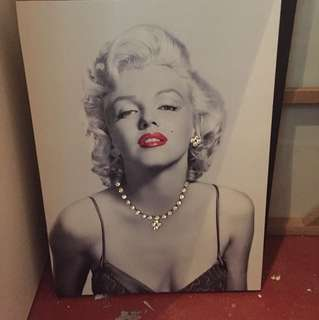Marilyn Munro canvas with your neck lace