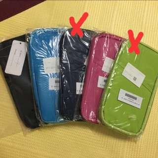 (全新)多功能護照套/證件包 共5色
