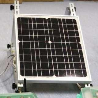 20W,  12V, 1.1A Monocrystaline Solar Panel