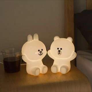 LINE FRIENDS 熊大 兔兔 BROWN CONY HUG ME & LOVE ME 觸碰式 USB 充電 小夜燈 座枱燈 感應燈 床頭燈 生日禮物 聖誕禮物