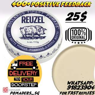[CHEAPEST IN SG]REUZEL CLAY MATTE POMADE