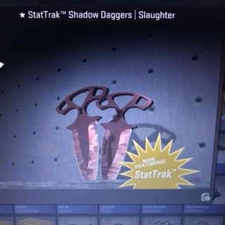 CS GO Shadow daggers Slaughter *STATTRACK*