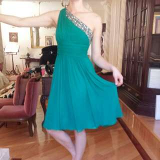 Formal emerald dress
