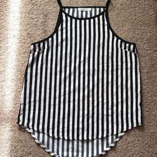 Stripey singlet/tank top