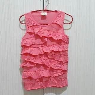 🚚 Zara 粉紅色背心 116cm二手衣