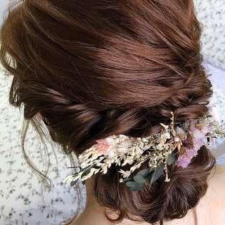 Dried flowers (prewedding wedding hair accessories)