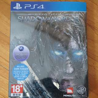 Middle Earth Shadow of Mordor Playstation 4 (ps4) US ntsc