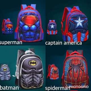 superheroes school back pack bag