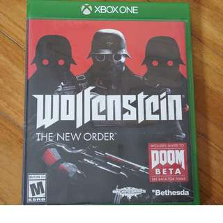 Wolfenstein The New order Xbox one XB1 US ntsc