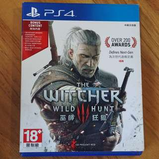 The Witcher : Wild Hunt Playstation 4 (ps4) uS ntsc