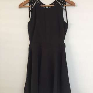 Black Evening Dress With Open Back Detail