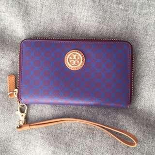 Tory Burch Purple Wristlet Wallet