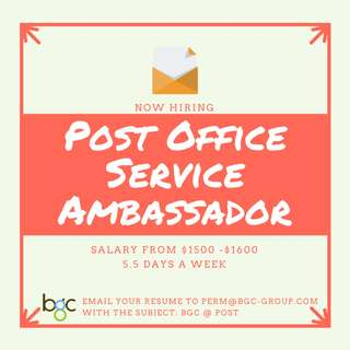 Post Office Service Ambassador ( Up to $1600)