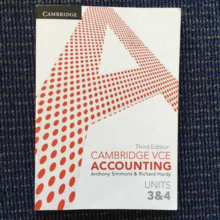 VCE 3/4 ACCOUNTING TEXTBOOK