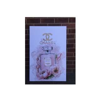 900x600 framed awesome Chanel Canvas ready to hang