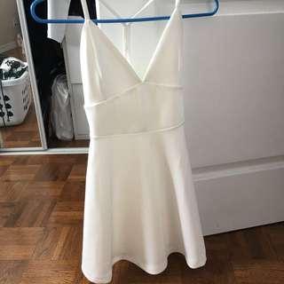 LOWERED PRICE: Boohoo White Skater Dress