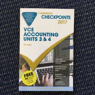 Cambridge checkpoints for Unit 3/4 VCE Accounting