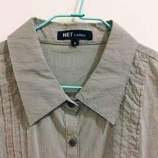 Net條紋襯衫