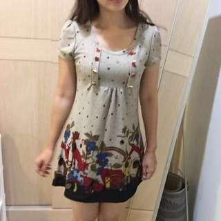降價🎉秋冬印花短袖洋裝 #洋裝特賣