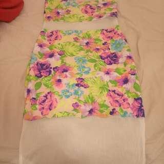 Boohoo mesh dress
