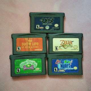 Authentic NINTENDO GAME BOY ADVANCE (GBA) Cartridges