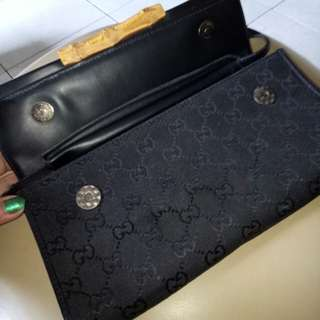 Super sale!!! RUSH SALE...💯% Authentic Gucci monogram GG Bamboo bar clutch bag