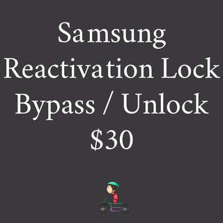 Reactivation Lock Removal