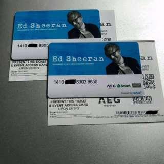 Ed Sheeran Concert Ticket