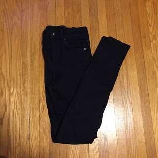H&M High Waisted Black Jeans