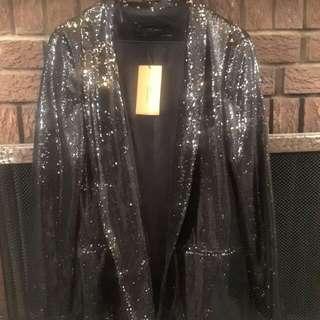 Zara Basic Sequin Blazer size Small