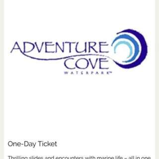 Adventure cove waterpark 4 tickets for sale.