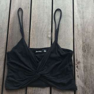 BN BERSHKA WRAP KNOTTED TIE FRONT CROP!