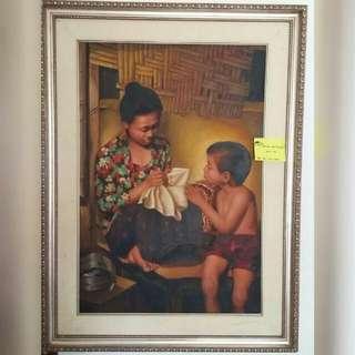 Lukisan ibu dan anak laki laki