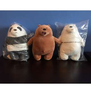 *ON HAND* We Bare Bears soft toy plush