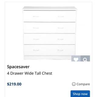 Chest of draws.