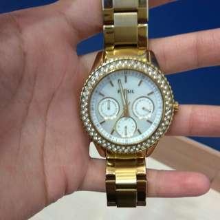 Ori Watch Fossil Gold