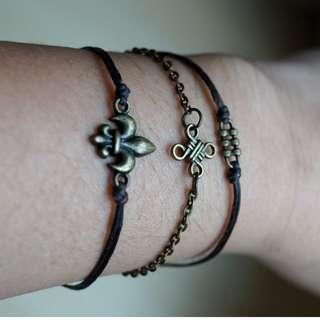 Set of 3 Retro bracelets for men/women