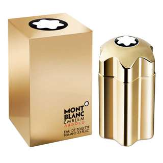 MONT BLANC EMBLEM ABSOLU EDT FOR MEN (100ml/Tester) MontBlanc Absolute Gold