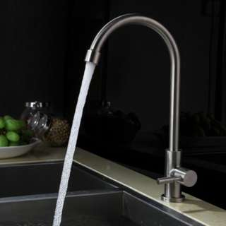 SUS 304 Stainless Steel Kitchen Faucet Tap For Sale