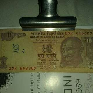 OLD INDIA TEN RUPEES