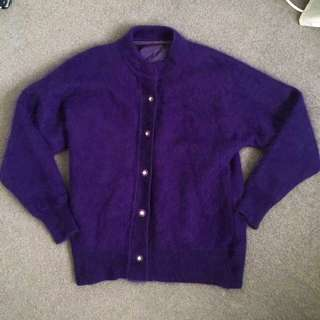 Vintage Purple Cardigan