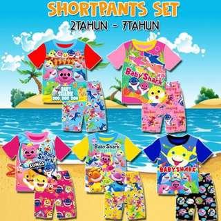 💥Babyshark shortpants set💥