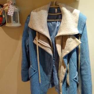 🚚 天藍羊毛外套